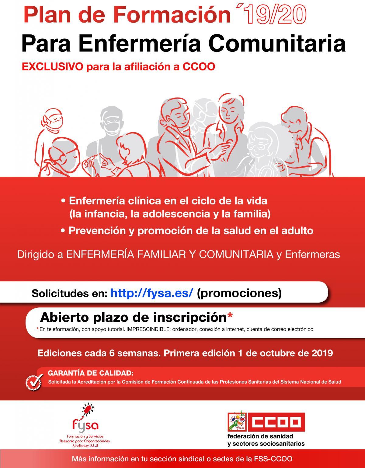 Cartel Formación Enfermería Comunitaria