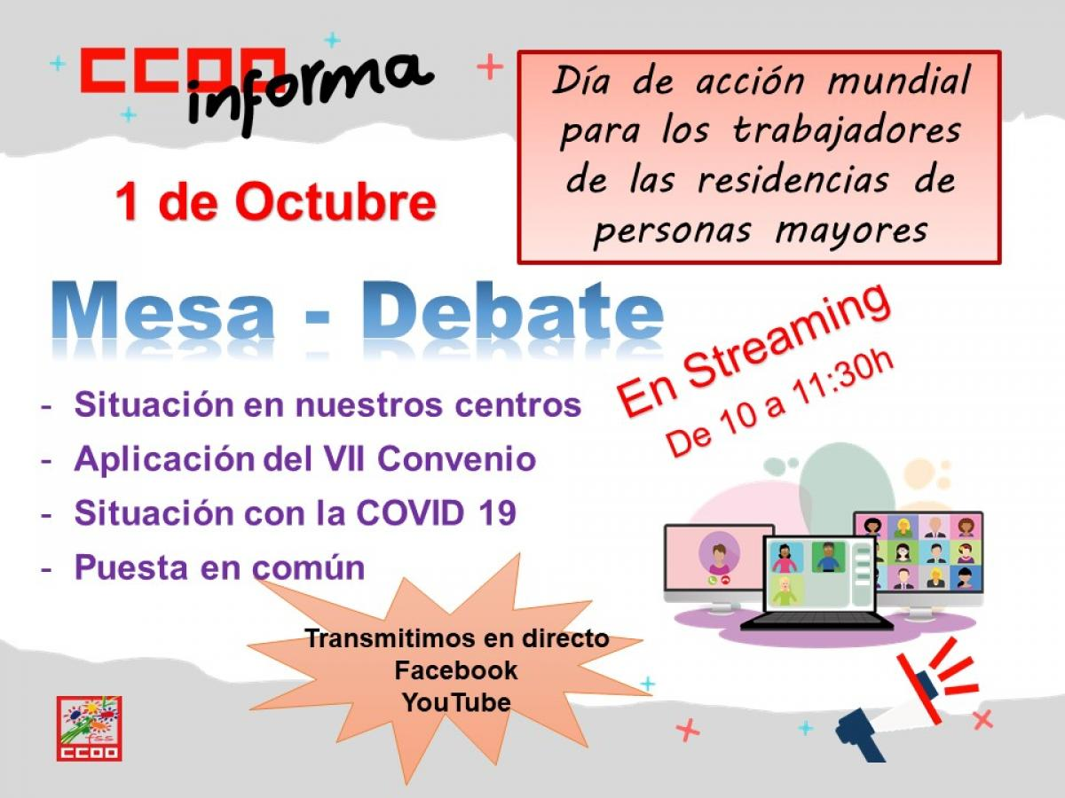 Mesa-Debate En Streaming de 10 a 11:30h